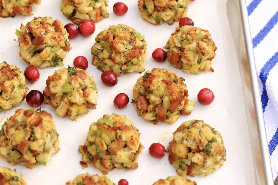 Stuffing Balls - Clever, portion-controlled, and a surefire hit on a holiday table or alongside a variety of poultry and pork dishes throughout the year. They're easy to make for any size crowd and offer prep-aheadconvenience.