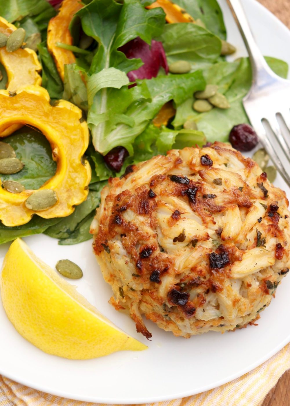 Maryland Crab Cakes - No fryer needed for crisp edgesand classiccrab cake flavor. Packed withtender chunks of meat, this meal is elegant enough forspecial occasions yet easy enough for a busy weeknight.