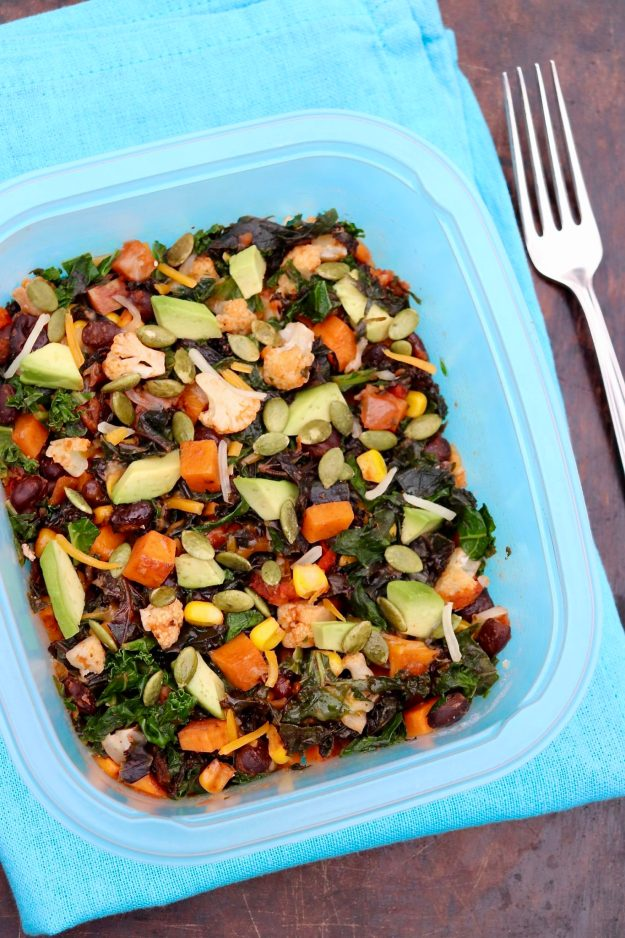 Southwestern Nourish Bowls-Brimming with colorful vegetables and plant-based protein, these nutrient-dense bowls are filling, adaptable and easy to prep for the week ahead. (Great portable work lunch, too!)