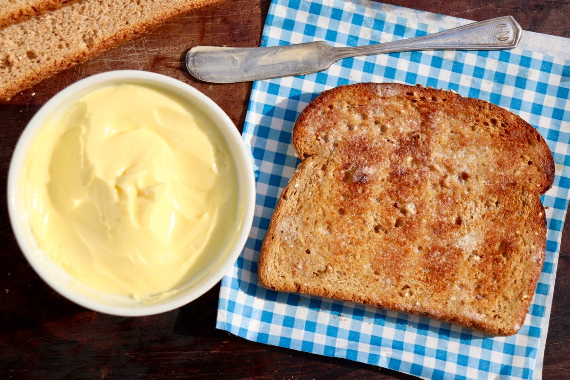 Healthier Spreadable Butter-Soft, spreadable butter is easy to make, and thanks to a healthy dose of Omega-3s, so much healthier, too
