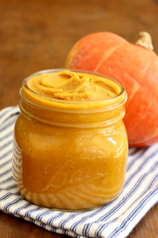 ROASTED PUMPKIN BUTTER - If you've never madepumpkin butter before, this foolproof recipe is reason to start. I could eat it by the spoonful...and often do!