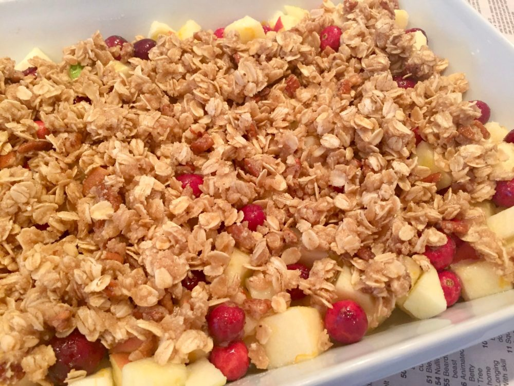 CRANBERRY APPLE CRISP - The perfect balance of sweet and tart adds something special to this easy crisp, which caneasily be made dairy- and gluten-free if needed.