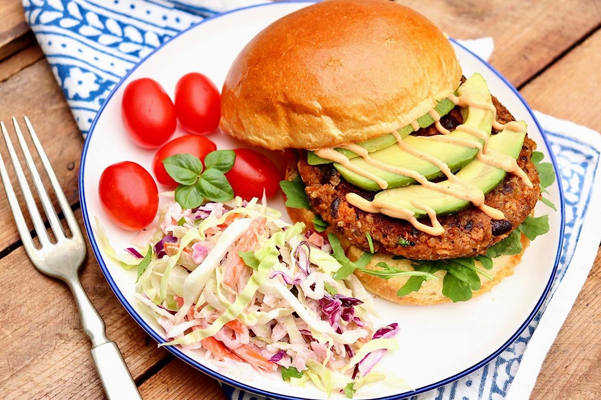 An appealing spicy-sweetness is the hallmark of these veggie burgers, which are vegan and gluten-free and can be made in advance. (They freeze well, too!)