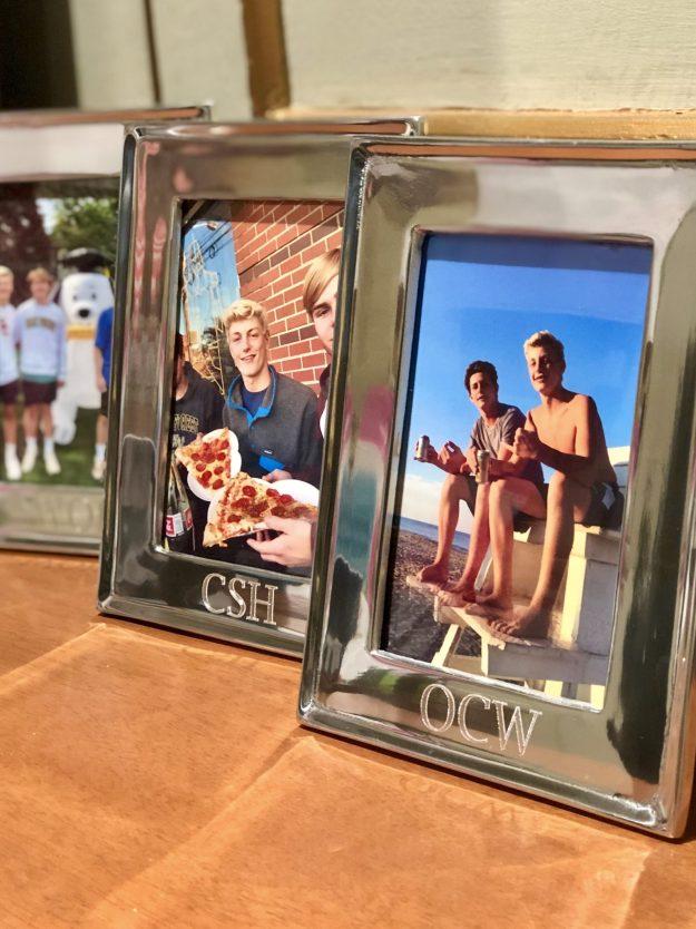 Favorite gifts - monogrammed silver frames