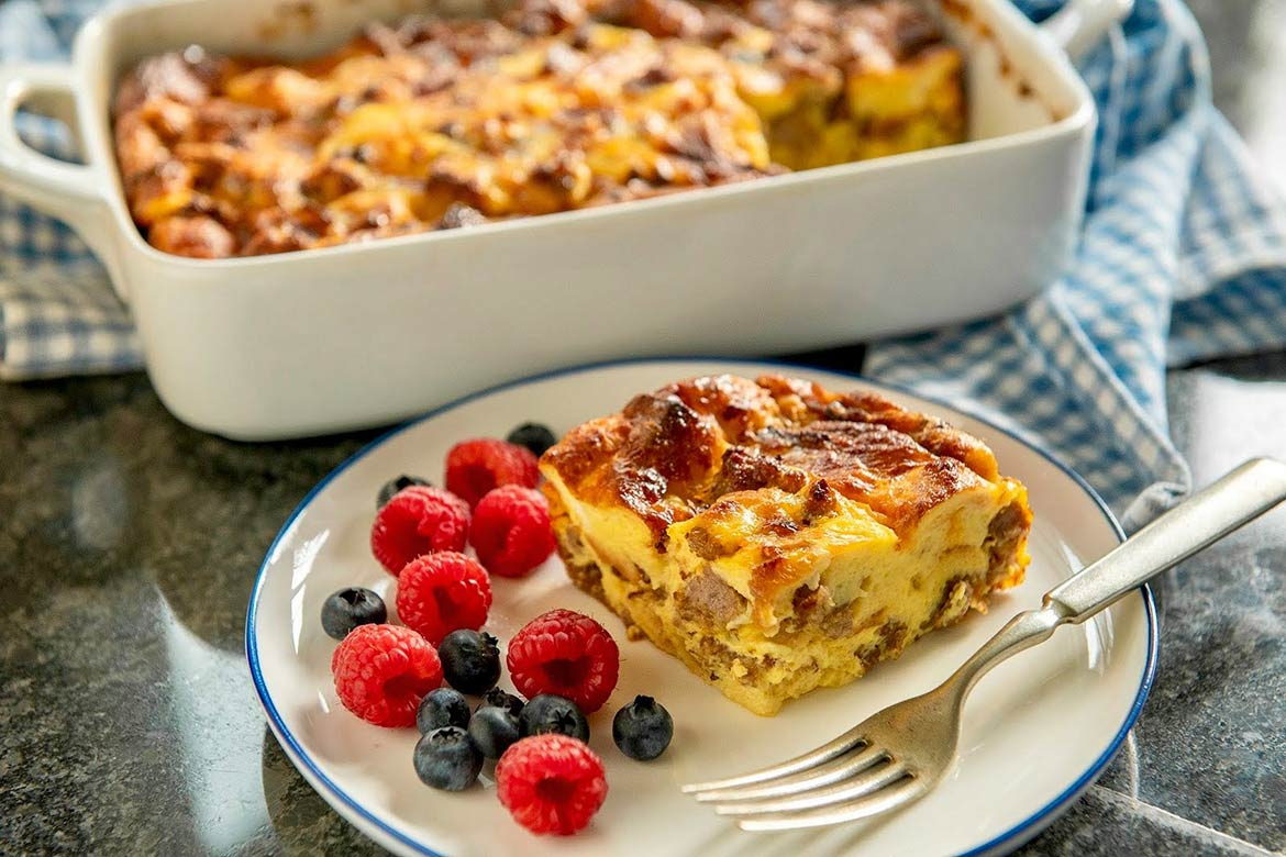 This tried-and-true casserole can be prepared in advance and is perfect for holidays and special brunches. A smaller batch option follows the main recipe and is ideal for more intimate gatheringsand the occasional breakfast for dinner!