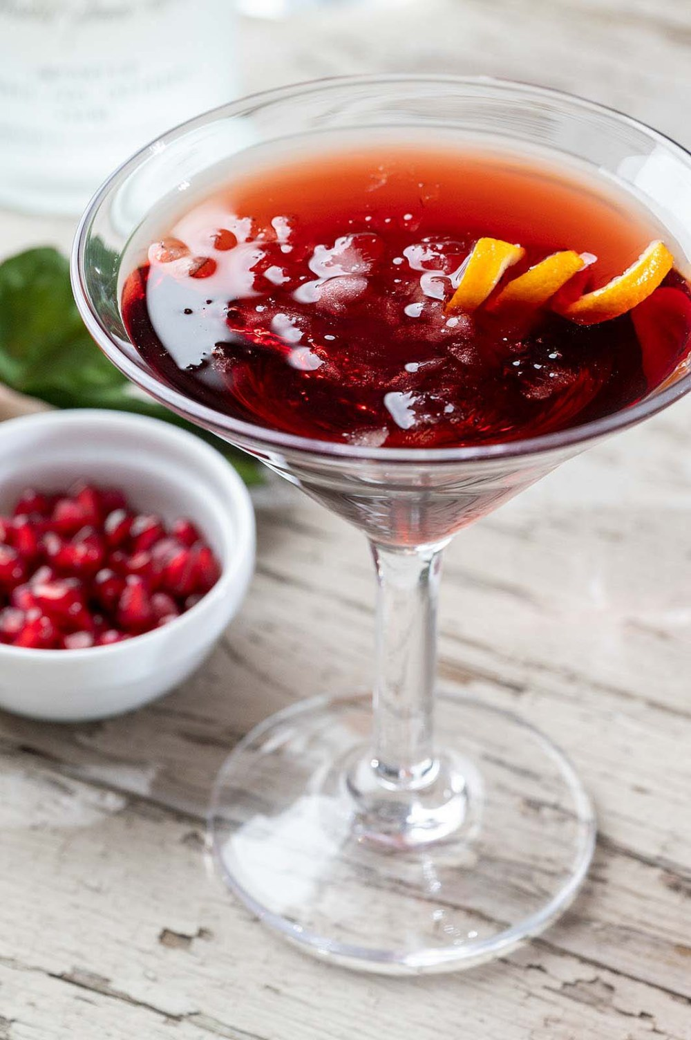 "Fruity yet not overly sweet, this martini is delightfully crisp and refreshing—and not too potent! And ever wonder how to make crushed ice, or better yet, ""soft"" ice? I've included the easy how-to!"