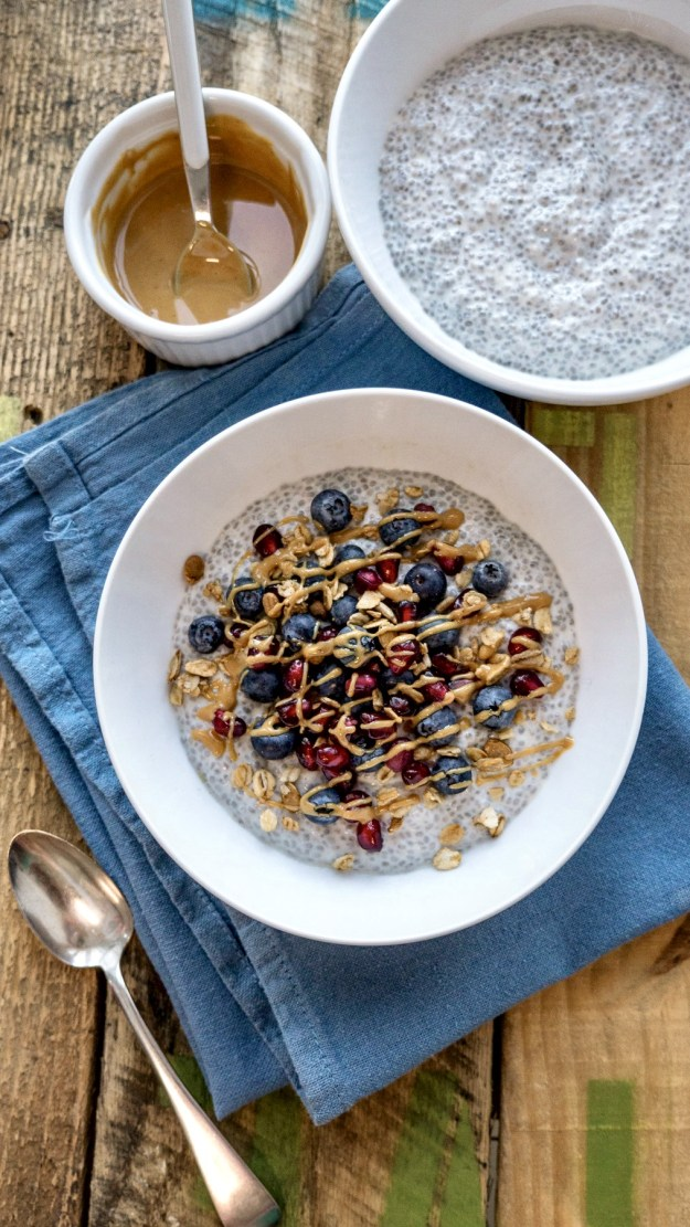 This low-sugar alternative to the popular acai bowls takes a just few minutes to make and offers a deliciously filling start to the day. The concept is similar to stovetop oatmeal or overnight oats, as you can top and customize to taste.