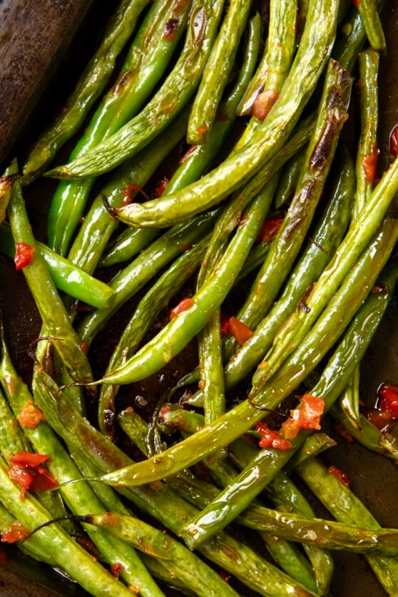 A singular condiment adds culinary magic to simply roasted vegetables, in this case, transforming basic green beans into a restaurant-worthy side dish. Best part? It takes less than 15 minutes start to finish!