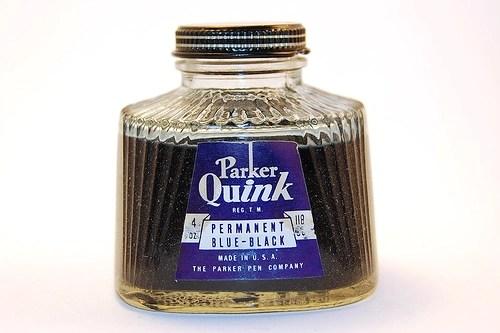Vintage Parker Quink bottle