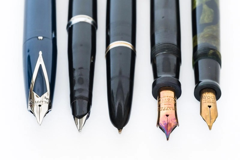 Various Fountain Pen Nibs