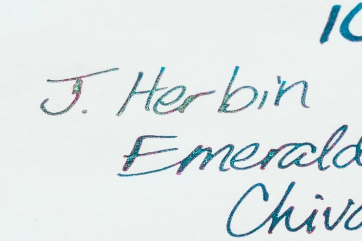 what is sheen j herbin emerald of chivor sheen fine nib