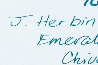 what is sheen j herbin emerald of chivor ink color