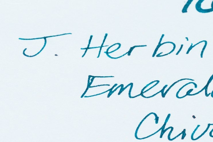 what is sheen j herbin emerald of chivor ink color