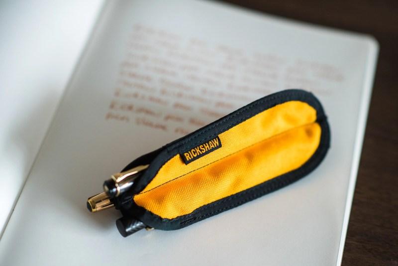 rickshaw pen sleeve review trio saffron