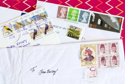 Using Fountain Pens Pen Pal foreign stamps
