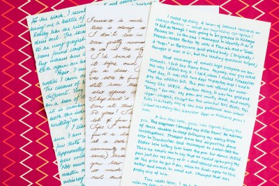 Using Fountain Pens Pen Pal letters
