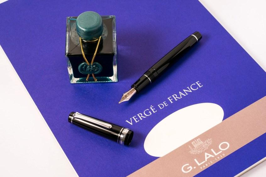 emerald of chivor pilot pro gear g lalo fountain pen