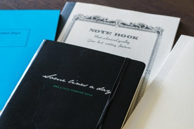 different notebooks that work for fountain pen journals