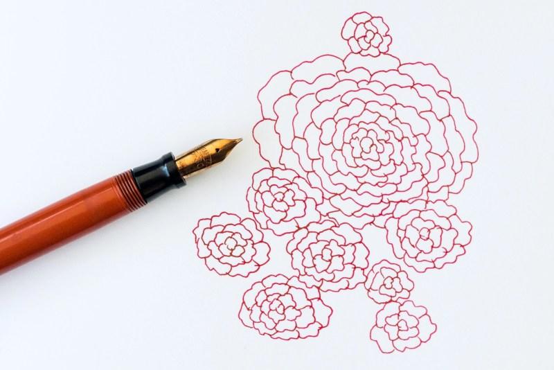 sheaffer fountain pen doodle