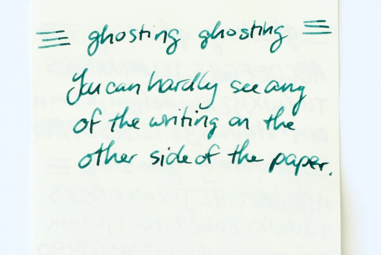 fountain pen ink paper ghosting