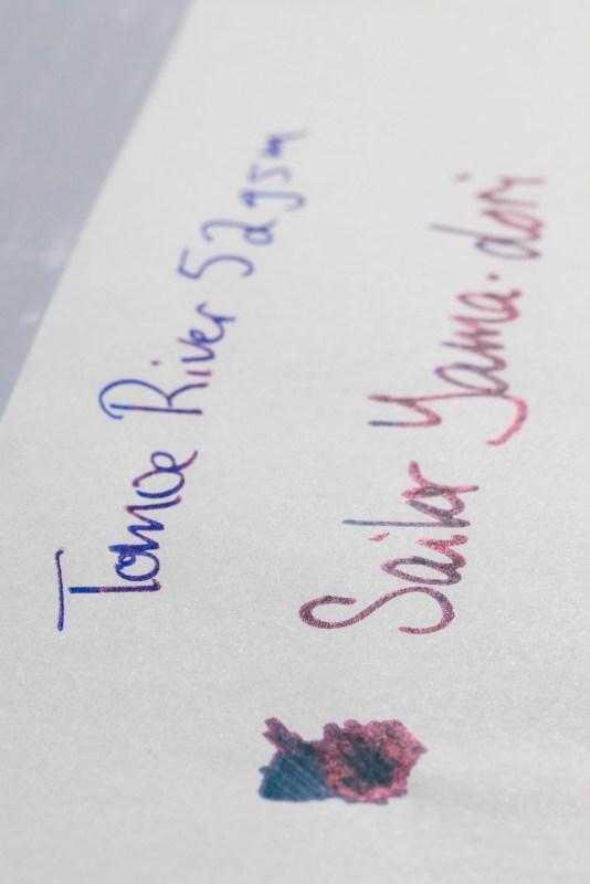 How does paper affect fountain pen ink sheen tomoe river sheen