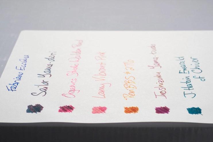 How does paper affect fountain pen ink sheen fabriano ecoqua notebook sheen