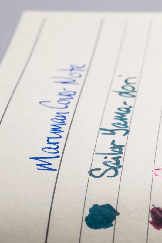How does paper affect fountain pen ink sheen maruman cover note sheen