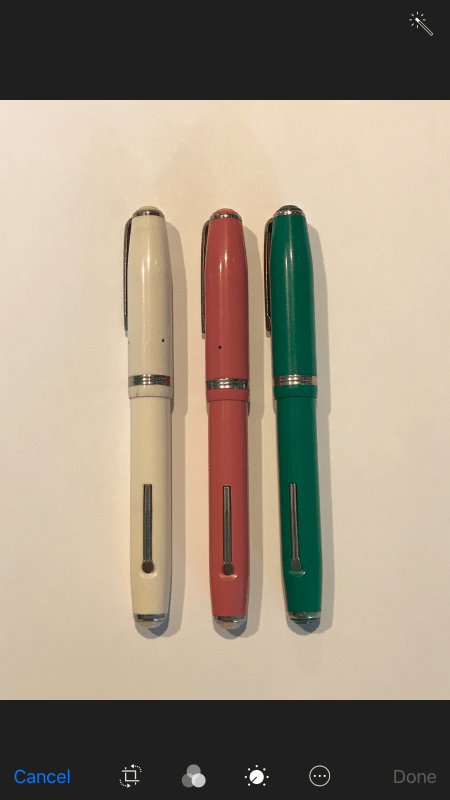 fountain pen white balance