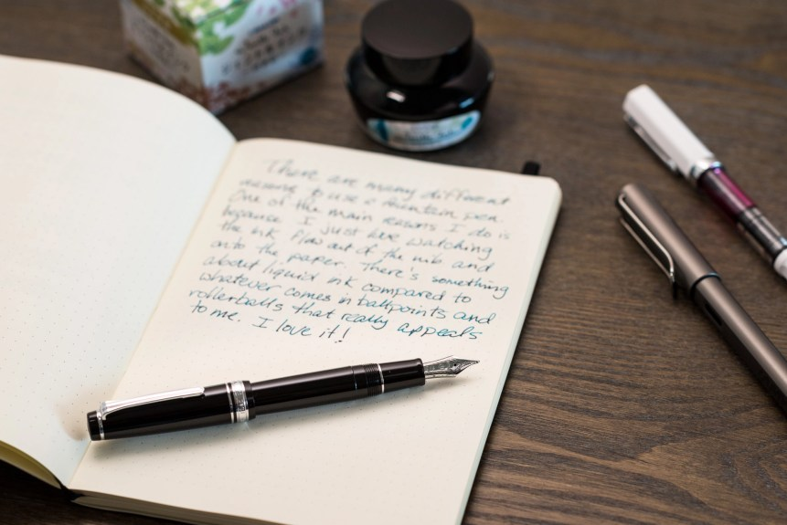 why use a fountain pen sailor pro gear ink bottle