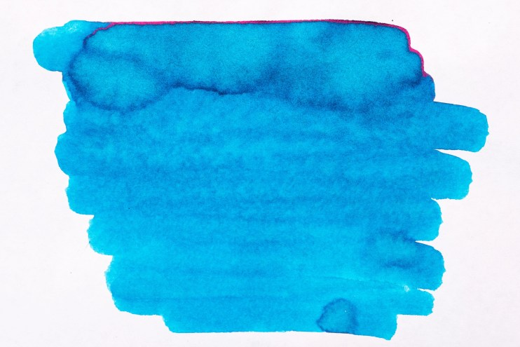 how to make a fountain pen ink splat smear cotton swab