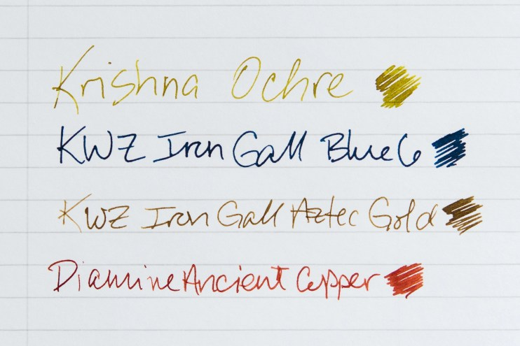paper change the way ink looks Rhodia paper
