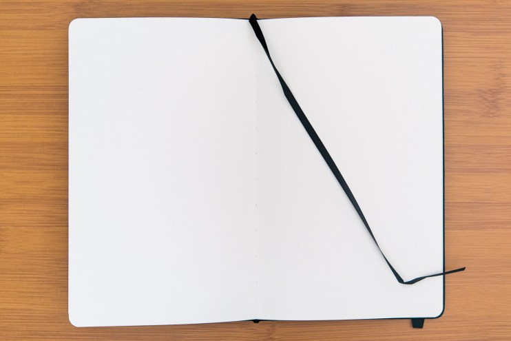 Minimalism Art Notebook Review page ribbon