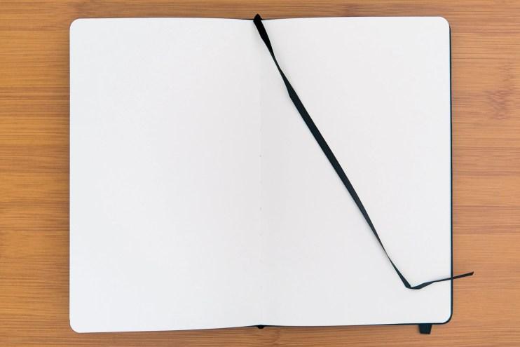 Minimalism Art Notebook Review page ribbon