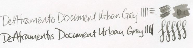 DeAtramentis Document Urban Grey writing sample