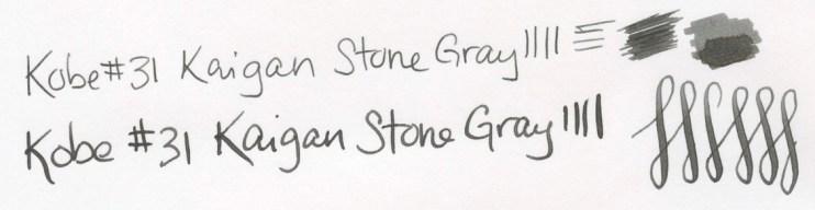 Kobe 31 Kaigan Stone Gray writing sample