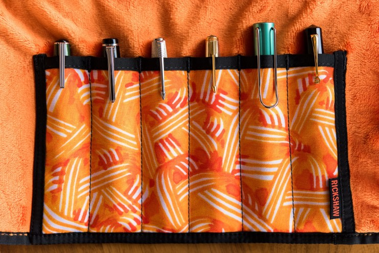 Rickshaw Pen Roll and Sleeve giveaway fountain pens