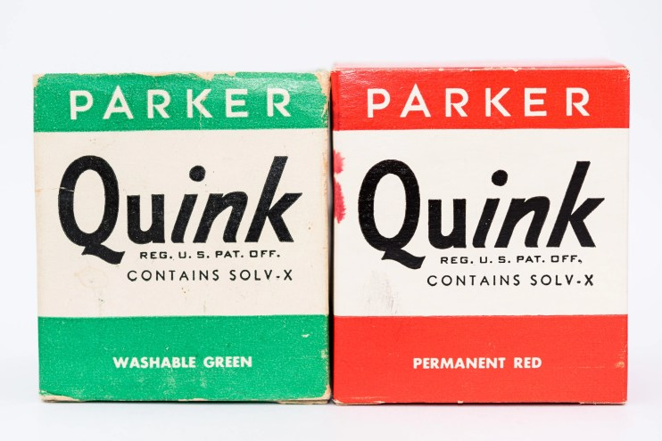 Identifying Vintage Fountain Pen Ink Bottles and Boxes washable green