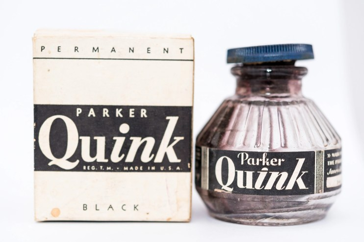 Identifying Vintage Fountain Pen Ink Bottles and Boxes old quink ink