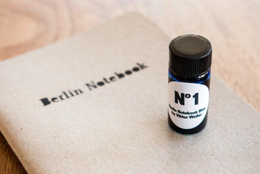 Berlin Notebook Blue No 1 Fountain Pen Ink bottle and notebook