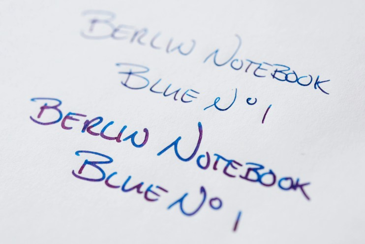 Berlin Notebook Blue No 1 Fountain Pen Ink tomoe river