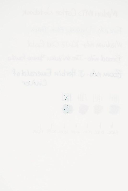 Midori MD Cotton Notebook back paper test