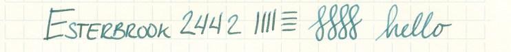 Esterbrook nib writing sample 2442