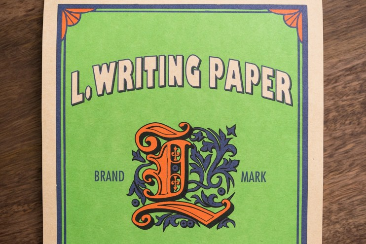 Life L Writing Paper cover detail