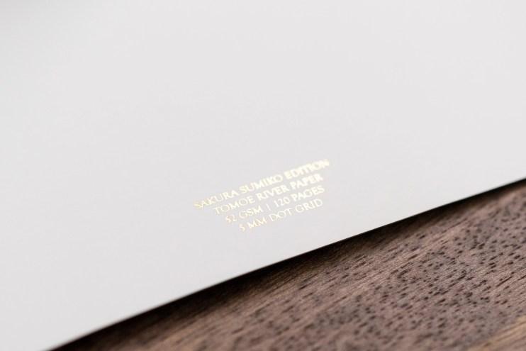 Pebble Stationery Co Sakura Sumiko notebook information