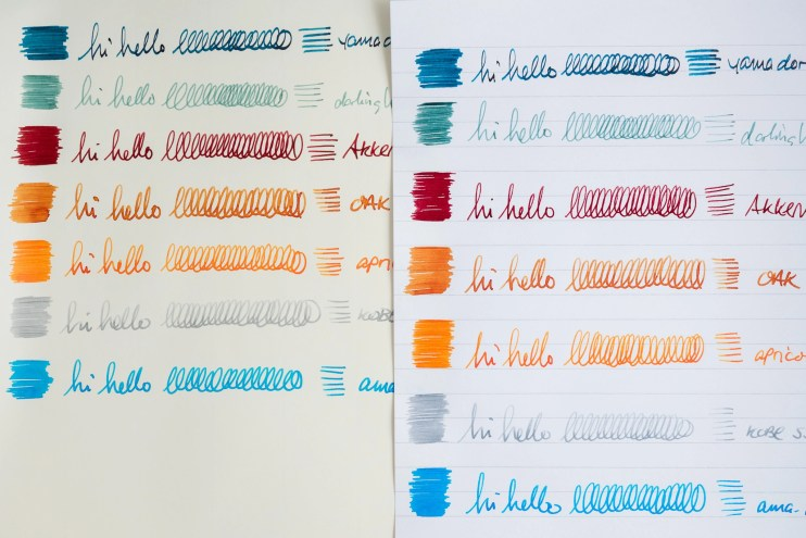 does paper color affect ink color clairefontaine and life