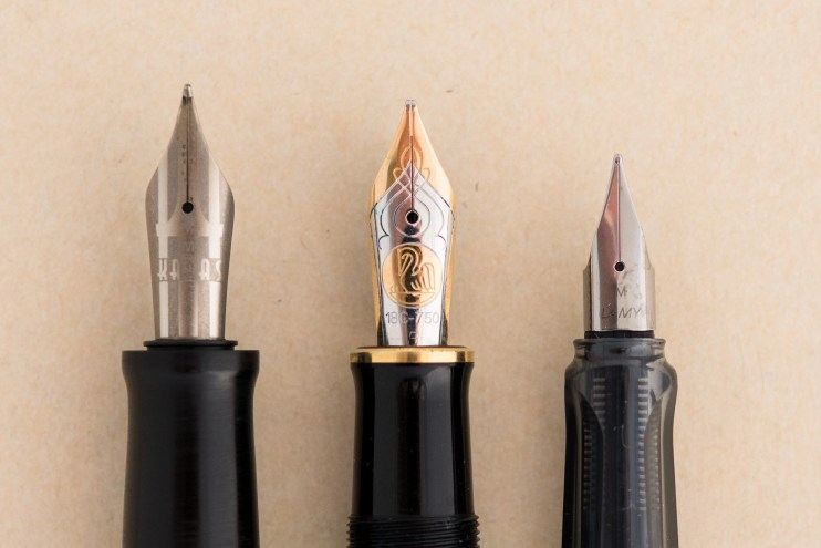 expensive versus inexpensive fountain pen difference steel gold nibs