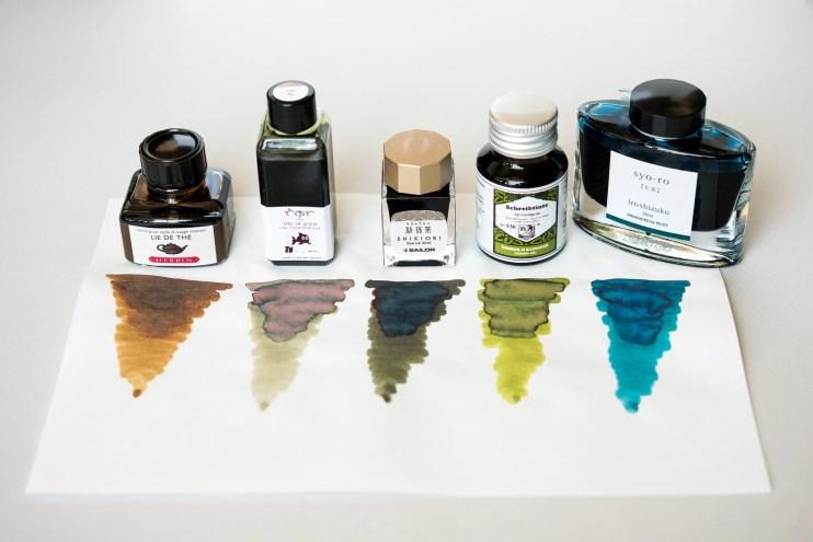 fountain pen ink bottles