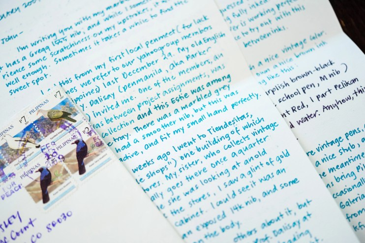 first letter to a pen pal beautiful handwriting