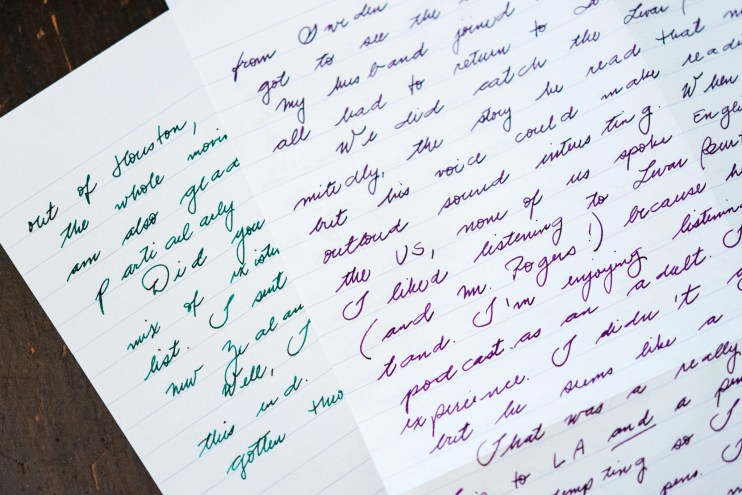 first letter to a pen pal multiple fountain pen inks