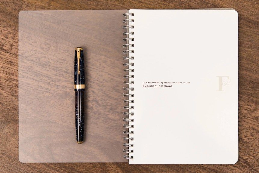 Kyokuto Expedient Notebook with Parker Vacumatic fountain pen